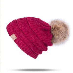 🆕️ Cc Pom Pom Knit Beanie Hat